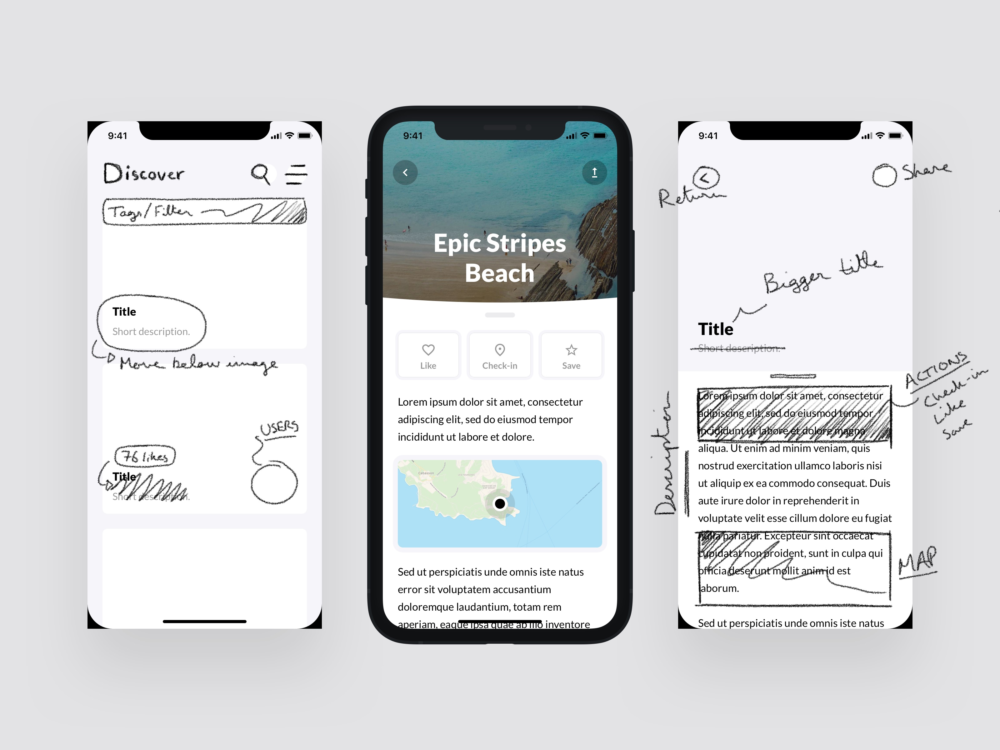 From Wireframe to Concept Design in Sketch