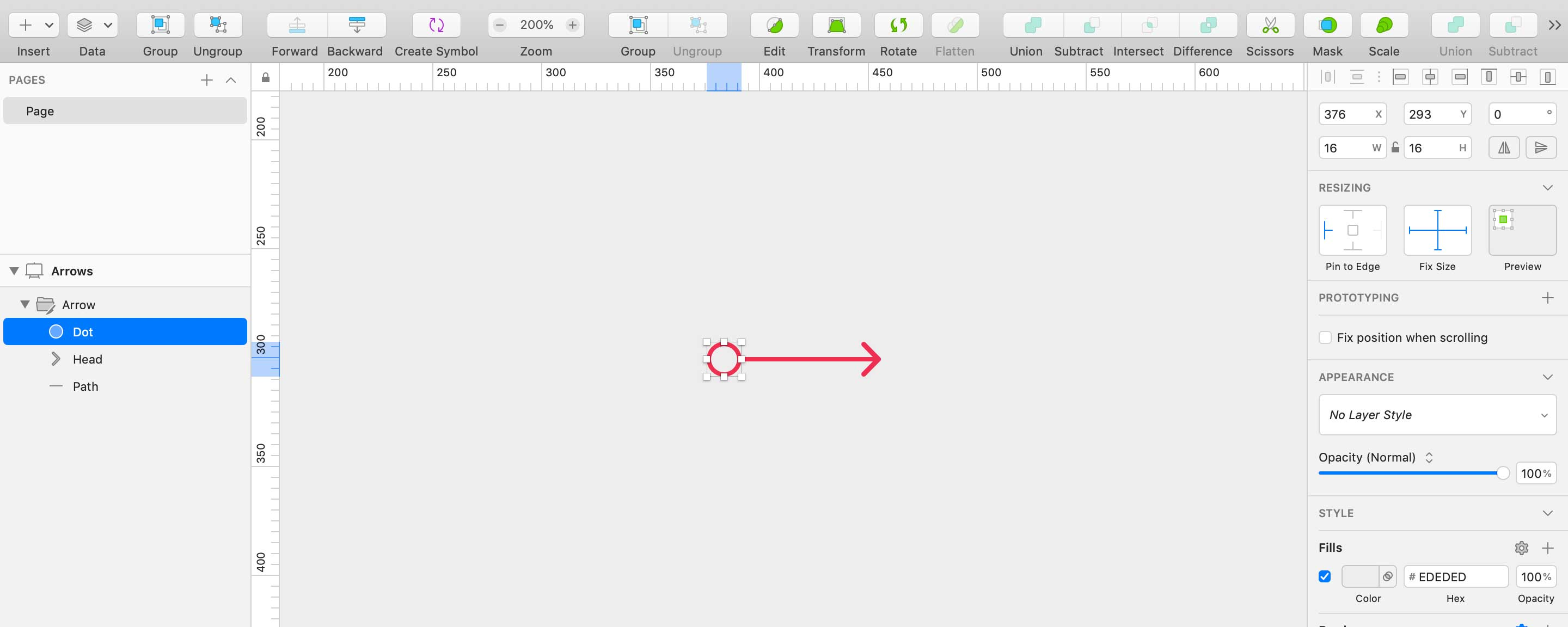 Resizable Arrows in Sketch
